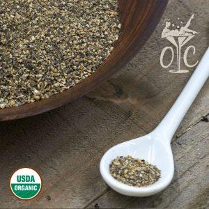 USDA Certified Organic Black Peppercorn, Cracked